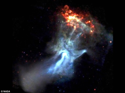 The hand of God - presented by NASA.